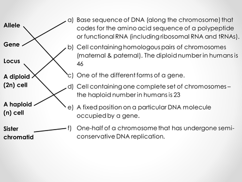 AQA A-level Biology (2016 spec). Section 7 Topic 17: Inherited change 7 Autosomal linkage