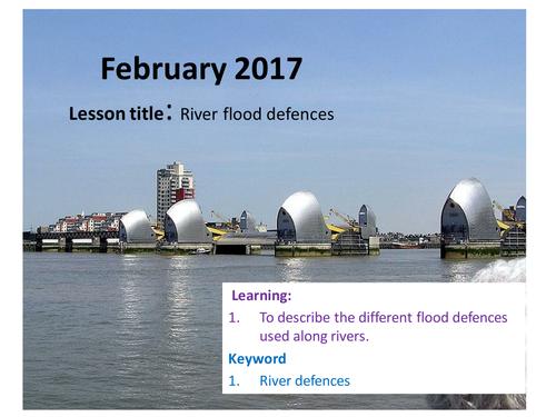 Flood management for rivers
