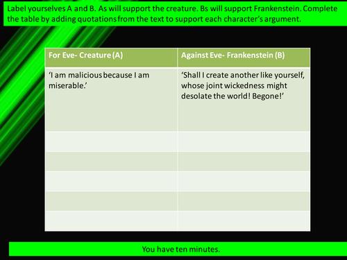 AQA ALEVEL FRANKENSTEIN Lessons 27-41