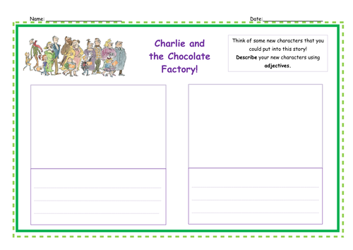 Describing and Changing the Characters from Charlie and the Chocolate Factory