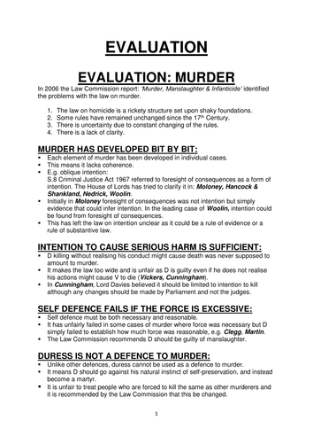 LAW 03 AQA A LEVEL ALL EVALUATION MODEL ANSWERS