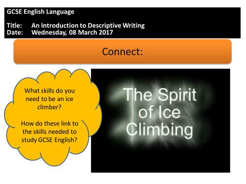 GCSE English Language: An Introduction to Paper 1 writing tasks