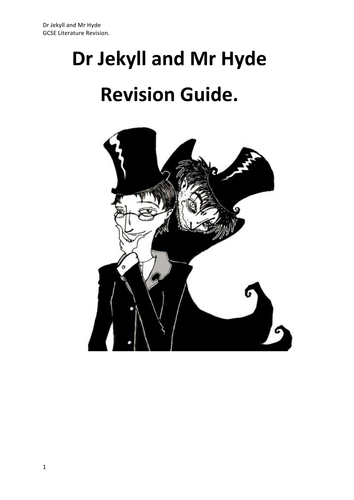 JEKYLL AND HYDE REVISION STUDY GUIDE NEW 9-1 GCSE