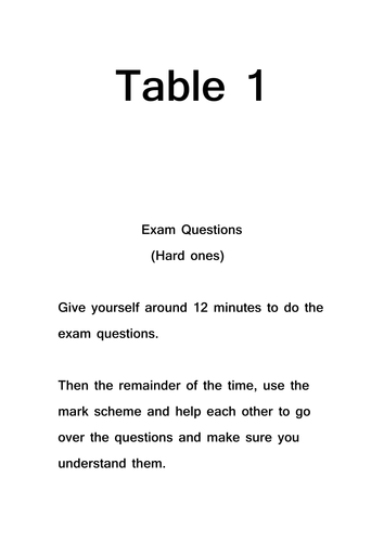 A carousel of activities for gcse trig - top end