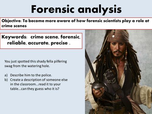 KS3 STEM week project-forensics