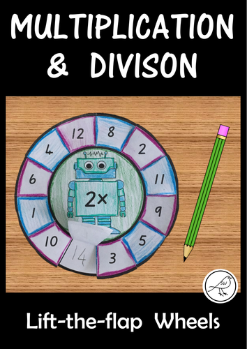 Multiplication and Division Wheels - lift the flap