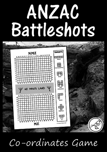 Anzac Day -'Battleshots' game