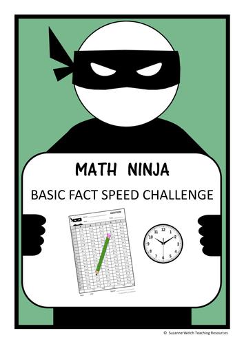 Math Basic Facts - 'Math Ninja' Challenge