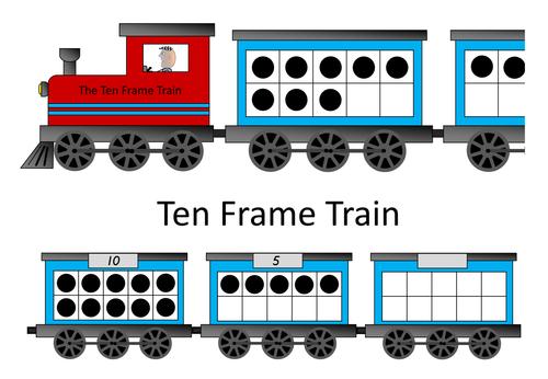 Math - Ten Frame Train