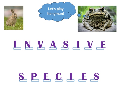 New GCSE - Invasive Species and biological control