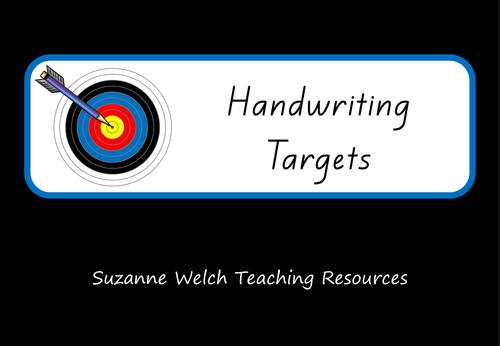 Handwriting Target Cards