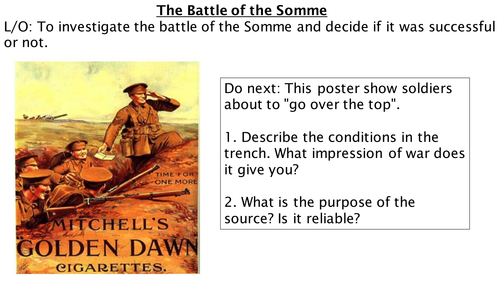*Full Lesson* The Battle of the Somme