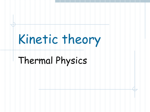 Kinetic theory of gases derivation
