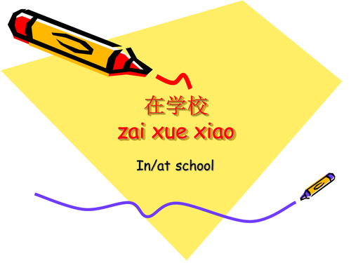 Mandarin Chinese lesson on school facilities and rooms