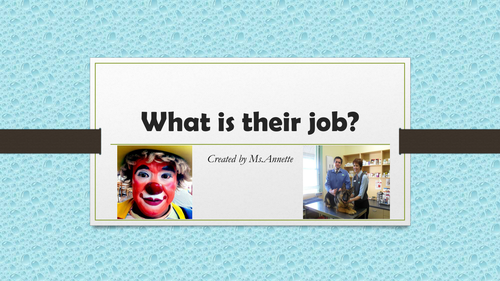 Occupations.  What is their job?