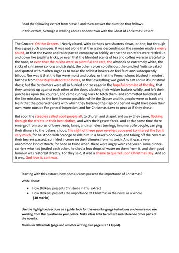 A christmas carol english essay