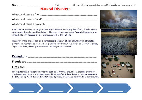 Natural Disasters: Fire and Drought