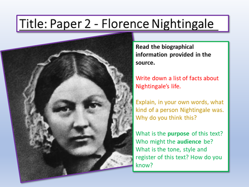 reaction paper about florence nightingale
