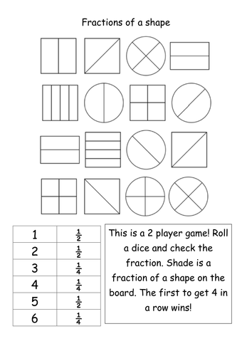 Fraction of a shape Year 1 Teaching Resources