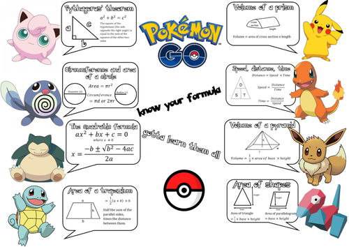 Pokemon maths formula display