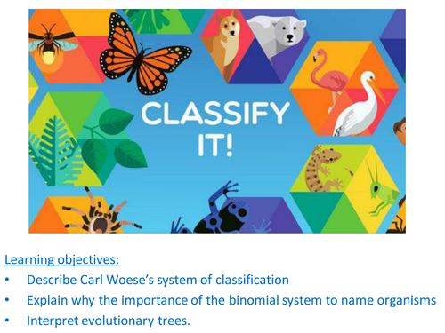 Classification, Linnaeus, Woese, AQA,