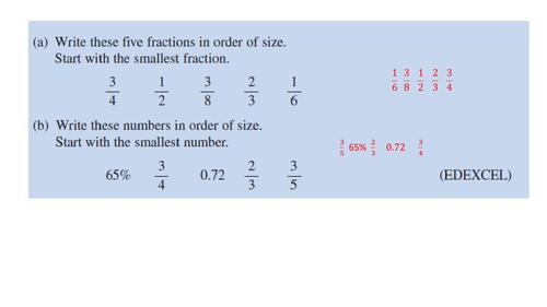 GCSE Revision Starter Questions