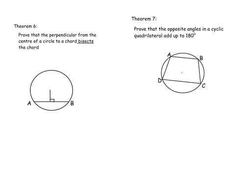 template for circle theorem