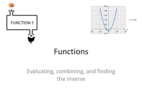 GCSE 9-1 maths lesson on functions