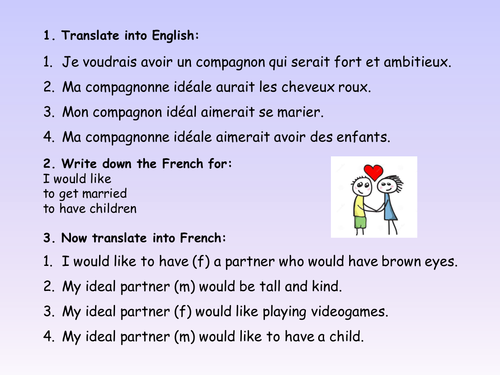 French Relationships with Conditional Tense