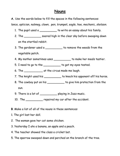 pupil self assessment writing checklist by victoria noun worksheet