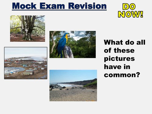 New AQA GCSE Living in the physical environment- Exam revision prep