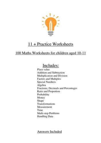 11+ Maths Worksheets