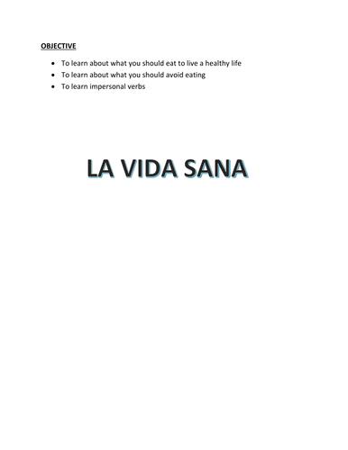 LA VIDA SANA WORK BOOK (FOUNDATION)