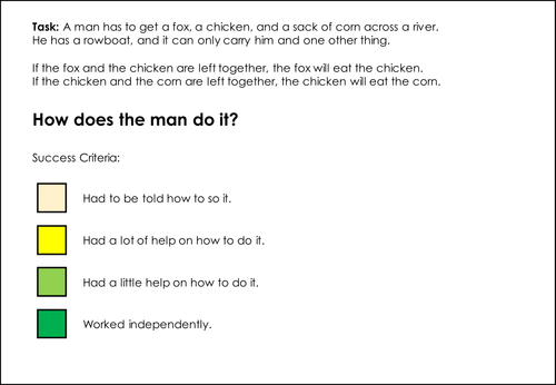 Chicken Challenge ! - can be carried out as a group challenge or to demonstrate independance.