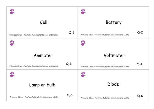 circuit symbol flashcards by pkScienceAndMaths - Teaching Resources ...
