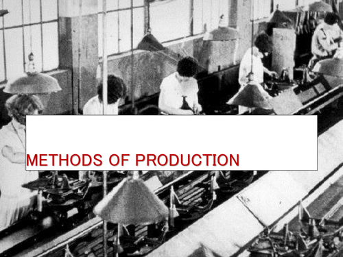 Methods of production theory and practical