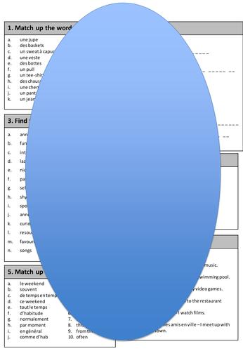 Studio 2 vert Module 3 revision sheet