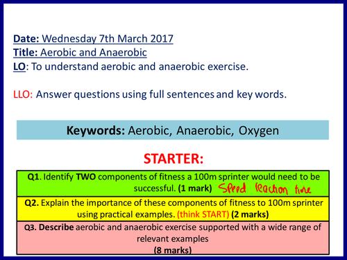 Aerobic & Anaerobic - Cambridge National (Sports Science)