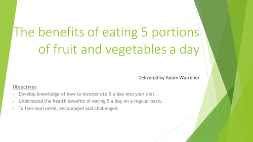 The importance of 5-a-day