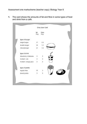 Balanced Diet KS3 (Science, biology, full lesson)