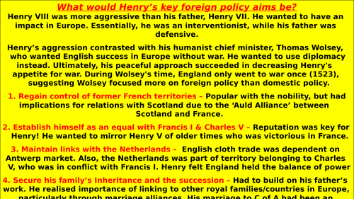 an analysis of henry viis foreign policy success under cardinal wolsey View of henry viii's and cardinal wolsey's foreign henry's henry viii foreign policy service henry vii s foreign policy success is.