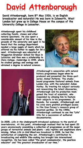 David Attenborough Reading Comprehension