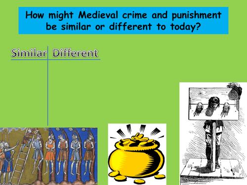 Medieval crime and punishment KS3