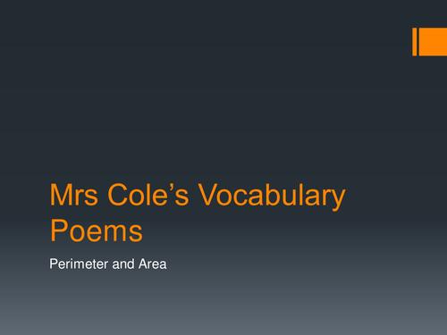 Perimeter and Area Poem