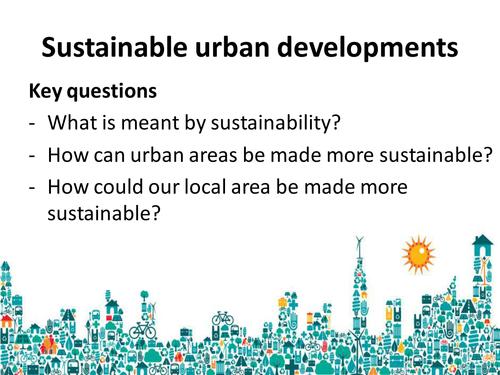 GCSE Geography- Sustainable Urban Development