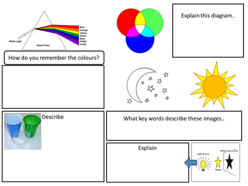 Revision sheet Light