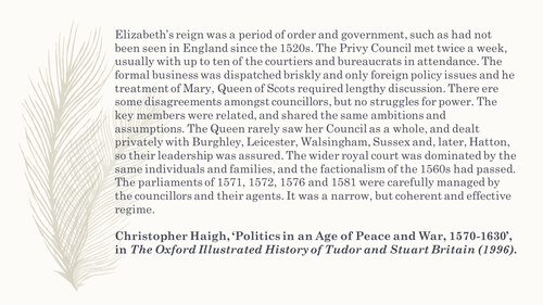 A2 Elizabethan  Government