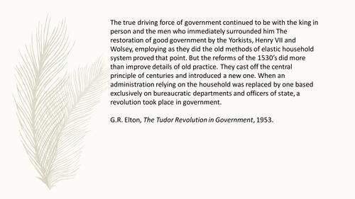 Tudor Government 1485-1603 - Revision