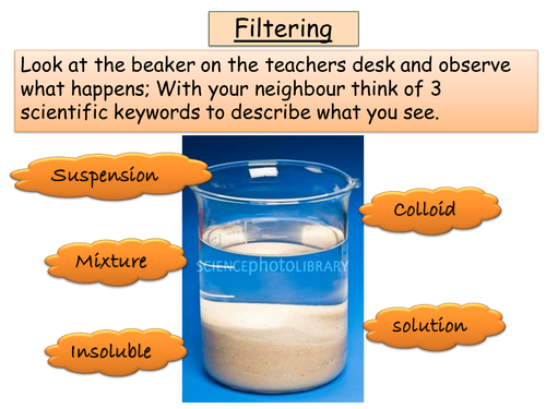 Year 7 Chemistry - Seperation techniques, Solubility + Evaporation