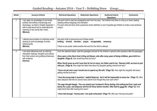 Guided reading Mastery planning ks2 (Seasons of Splendour) Ofsted rated outstanding.